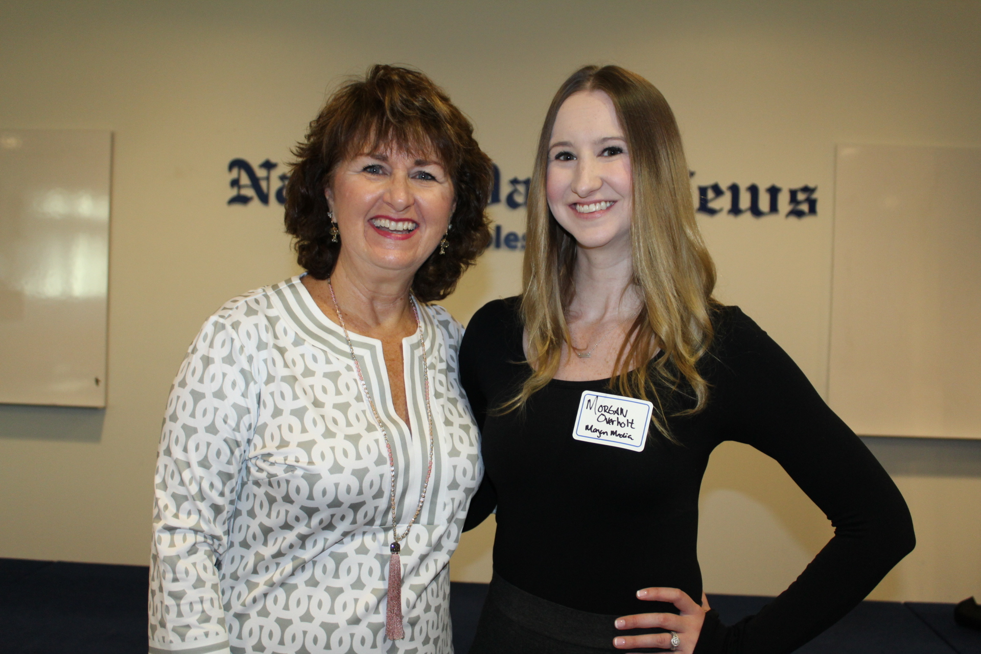 Morgan Overholt (former JTV host) and owner of Morgan Media LLC with Sue Huff from Sue Huff & Associates