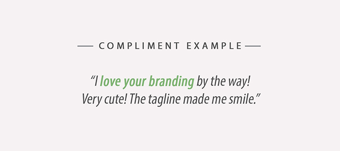Upwork Compliment Example