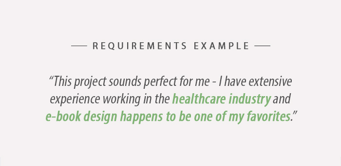 Upwork Requirements Example