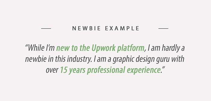 Upwork Newbie Example