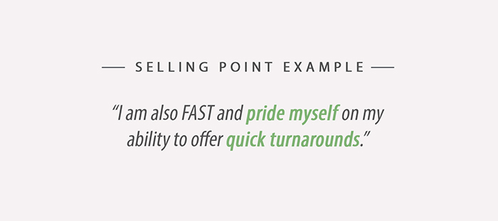 Upwork Example Selling Point