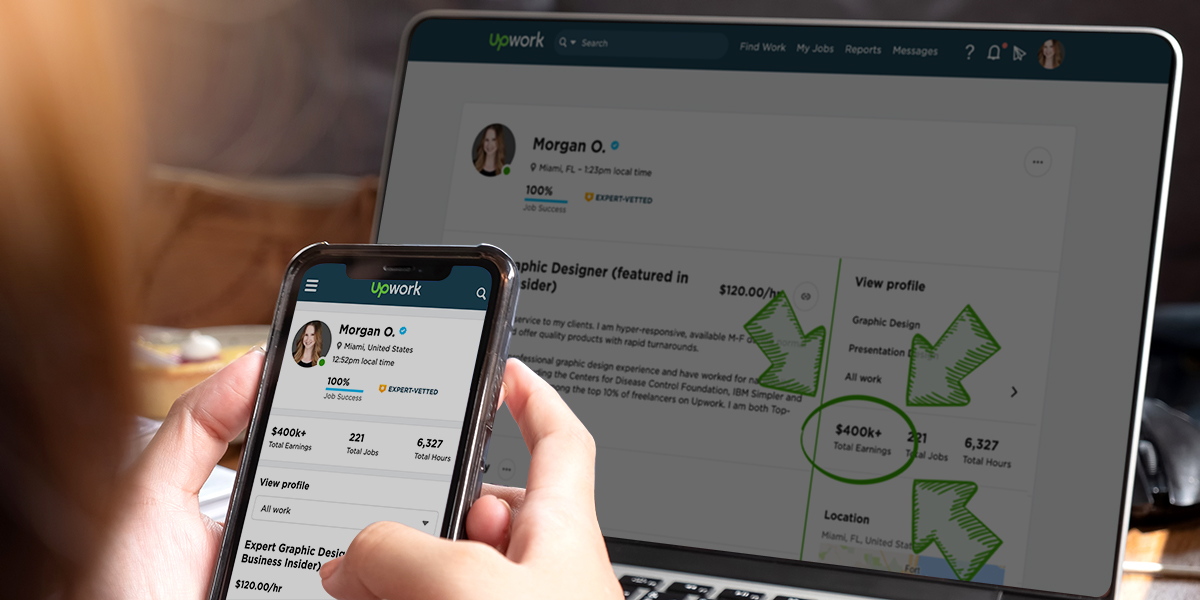 """Upwork doesn't have to be a """"race to the bottom"""" if you know what to do (stock photo, edited by Morgan Overholt)"""