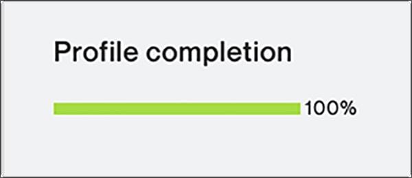 Upwork Completion Progress Bar