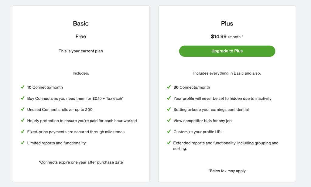 The Freelance Basic vs Freelance Plus plan benefits
