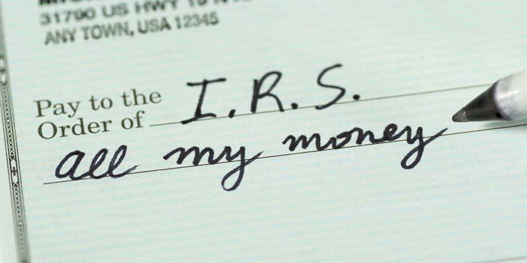 Check to Internal Revenue Service